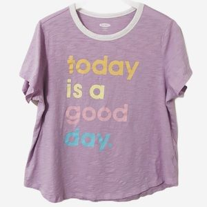 Old Navy today is a good day purple tee (XL)